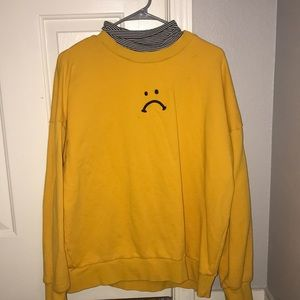 Yellow Sad Face Pullover